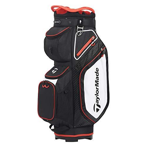 TaylorMade TM20 Cart 8.0 Bag Black White Red Cartbag, Black, One Size
