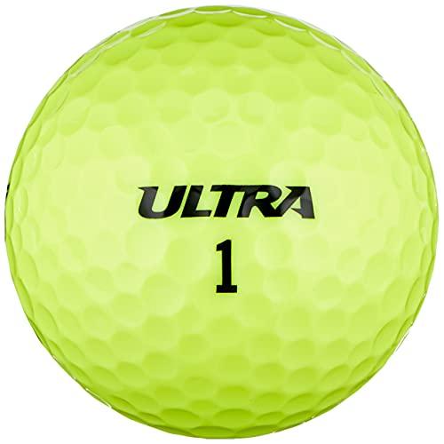 Wilson Ultra, 2-Piece Golfbälle für mehr Länge, 15er-Pack, Weiche Ionomerhülle , Ultra , Gelb