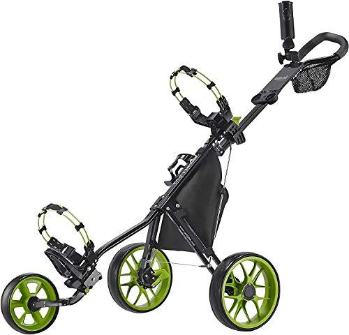 CaddyTek Unisex-Erwachsene CaddyLite 11.5 V3-Green Golf Push Cart, schwarz/Lime