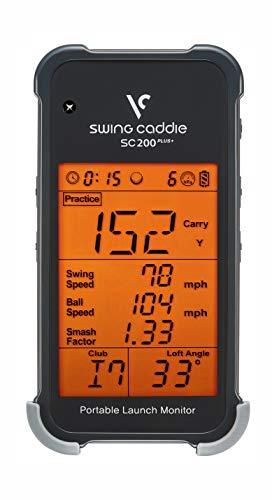 Voice Caddie Unisex-Erwachsene SC200PLUS Swing Caddie SC200 Plus Tragbarer Startmonitor, grau