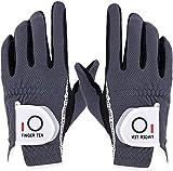 Finger Zehn Herren Golf Handschuh Paar beide Hand Value Pack Hot Wet Rain Grip, Farbe schwarz grau Fit Small Medium Large XL, grau, S-1 Pair …
