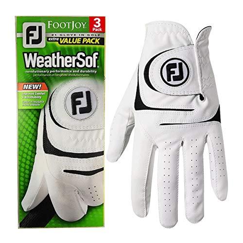 Footjoy Herren WeatherSof Cabretta Leder Allwetter 3er-Pack LH Golf-Handschuh