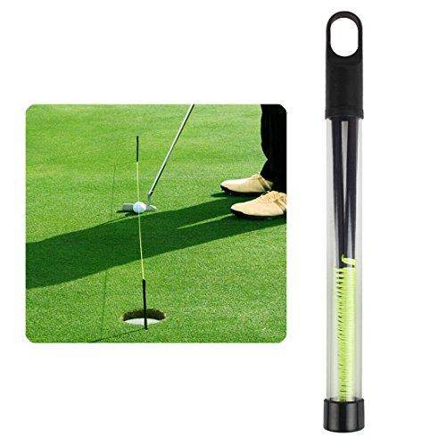 Andux Golf Trainingshilfe Golf Putting String mit Pegs Golf Putting Guide Line LXXLQ-01 MEHRWEG