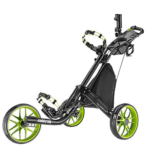 CaddyTek Golfwagen golf trolleys 3 Rad Golf Push cart leicht falten-lime
