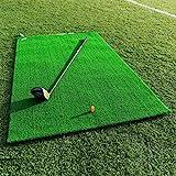 FORB Academy Golf Übungsmatte – Golf Matte zusammenrollen – Golf Tees enthalten   Golf Abschlagmatte   Rasen Matte   Abschlagmatte Golf