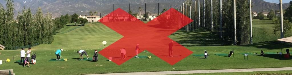 Nicht auf der Driving Range Golf lernen