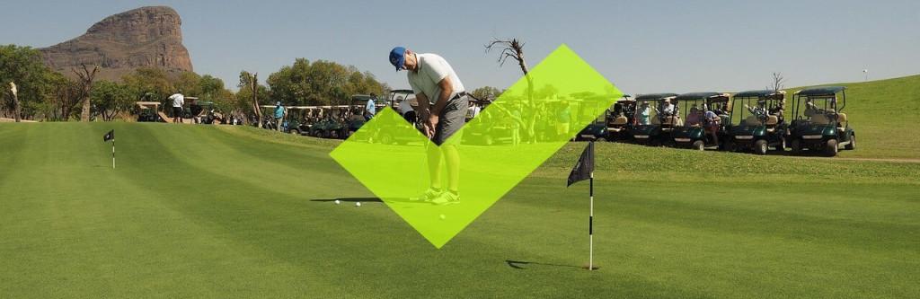 Auf dem Putting Grün Golf lernen