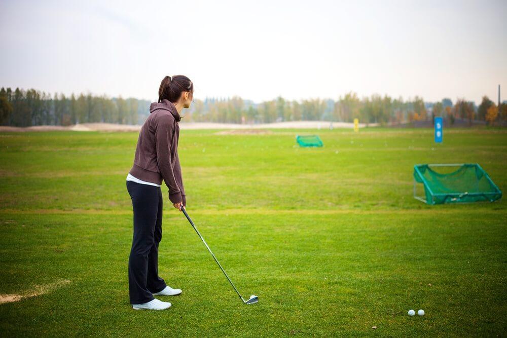 Golf Skills Test auf der Driving Range