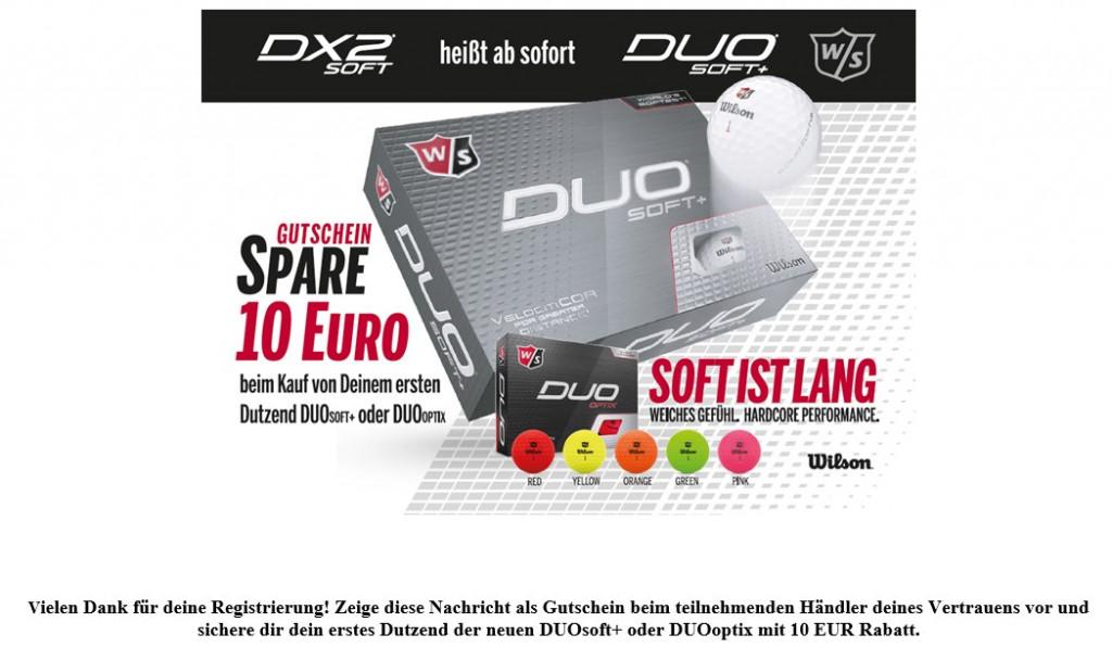 10 € Gutschein für den Wilson Duo Soft+